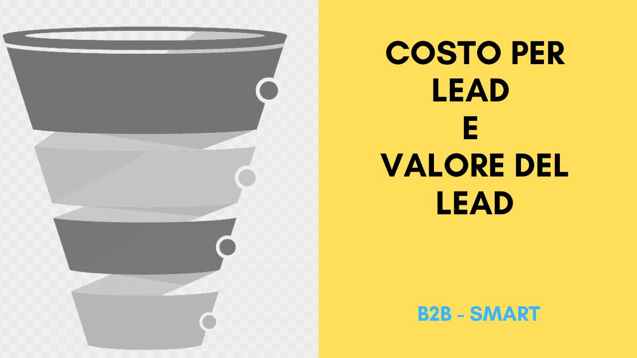 costo per lead e valore del lead